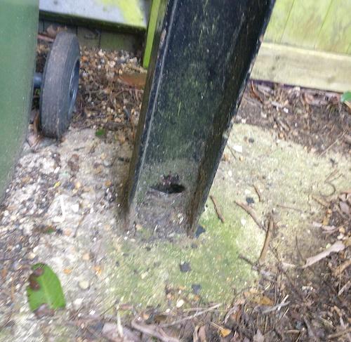 fire escape repair column rust